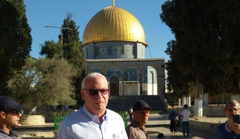 Agriculture Minister Uri Ariel visiting the Temple Mount, July 8, 2018.