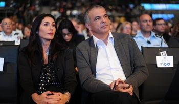 Culture Minister Miri Regev and Finance Minister Moshe Kahlon, January 2017.