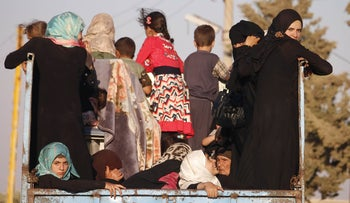 Syrian families return to their homes in towns and villages situated on the southern outskirts of Daraa on June 6, 2018.