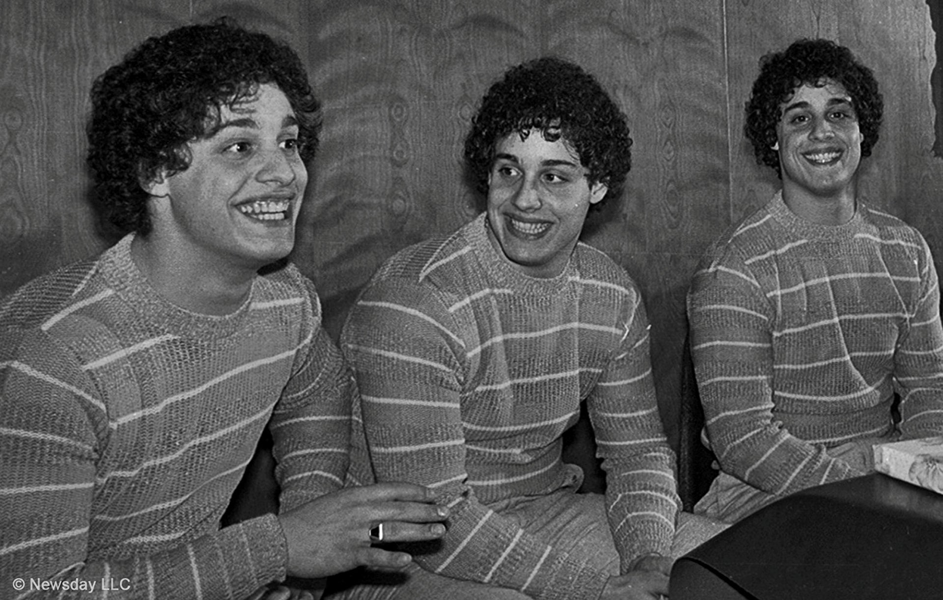 "A scene from the movie ""Three Identical Strangers""."