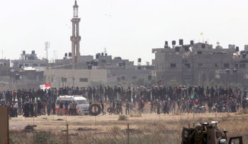 Gaza protests at the border, April 2018.