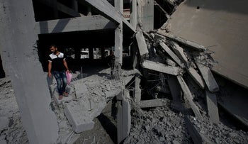 A building in Gaza that was bombed by the IDF today, July 15, 2018.