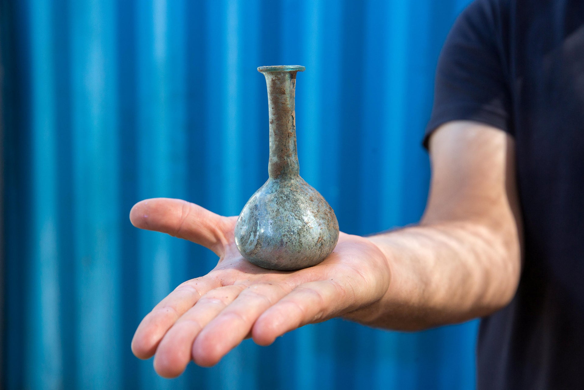 Glass vial from later Roman era found in Motza
