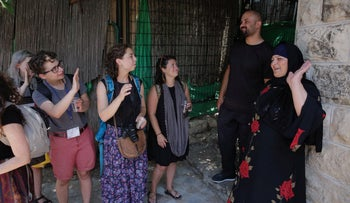 American youths visit the Sumreen family home in Silwan, on July 15, 2018