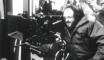 "Film director Stanley Kubrick, seen in this undated picture during production of ""The Shining"""