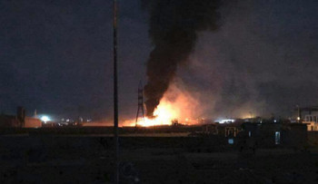 Image of a previous strike in Syria
