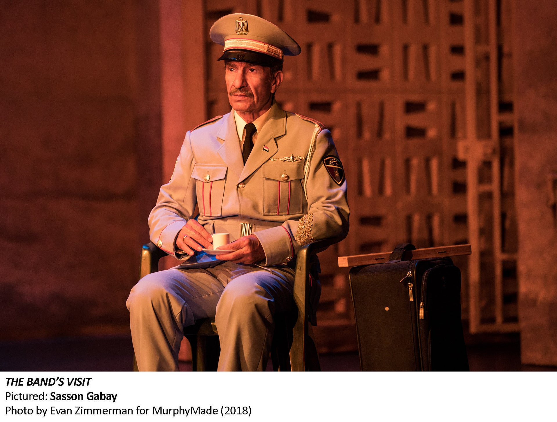 Sasson Gabbai in 'The Band's Visit' on Broadway.