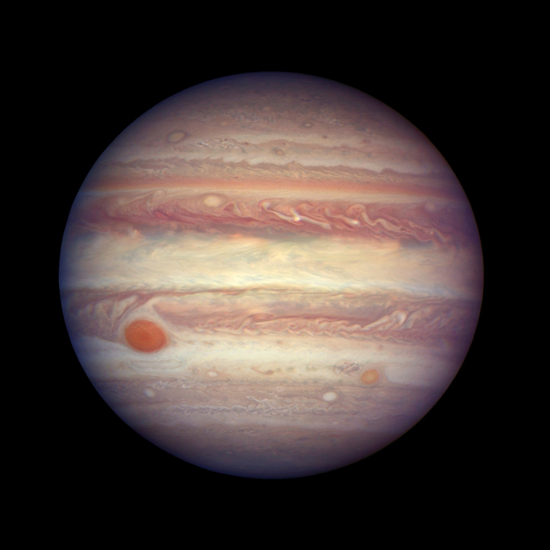An image of planet Jupiter made available by NASA, April 3, 2017