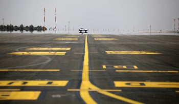Tarmac of the new Ramon International Airport in Timna Valley, north to Eilat, Israel, June 13, 2018.