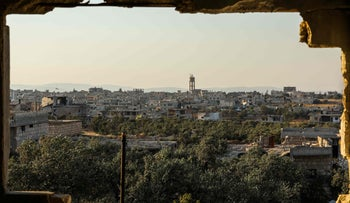 View of the pro-Syrian government village of al-Foua in the northwestern province of Idlib, July 17, 2018.