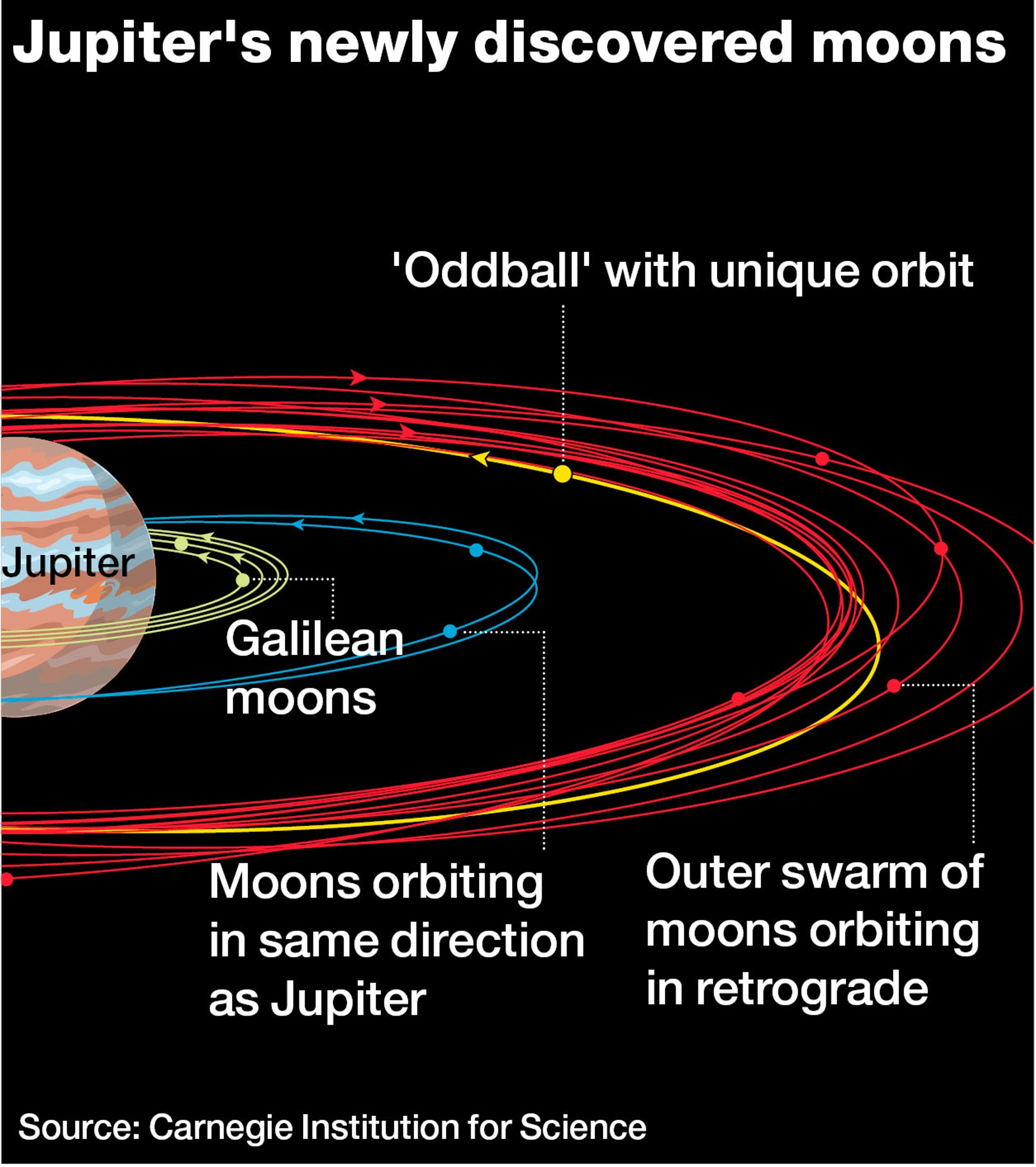 Jupiter's newly discovered moons