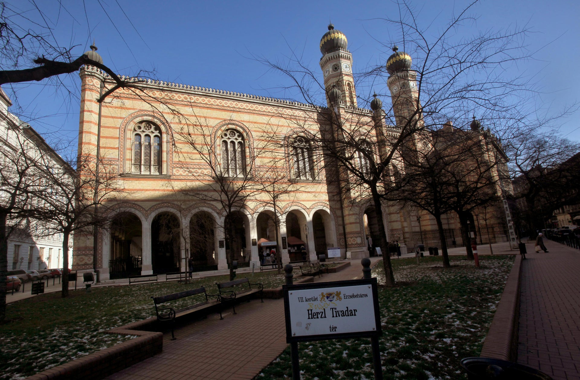 The Dohany Street Synagogue in Budapest, Hungary.