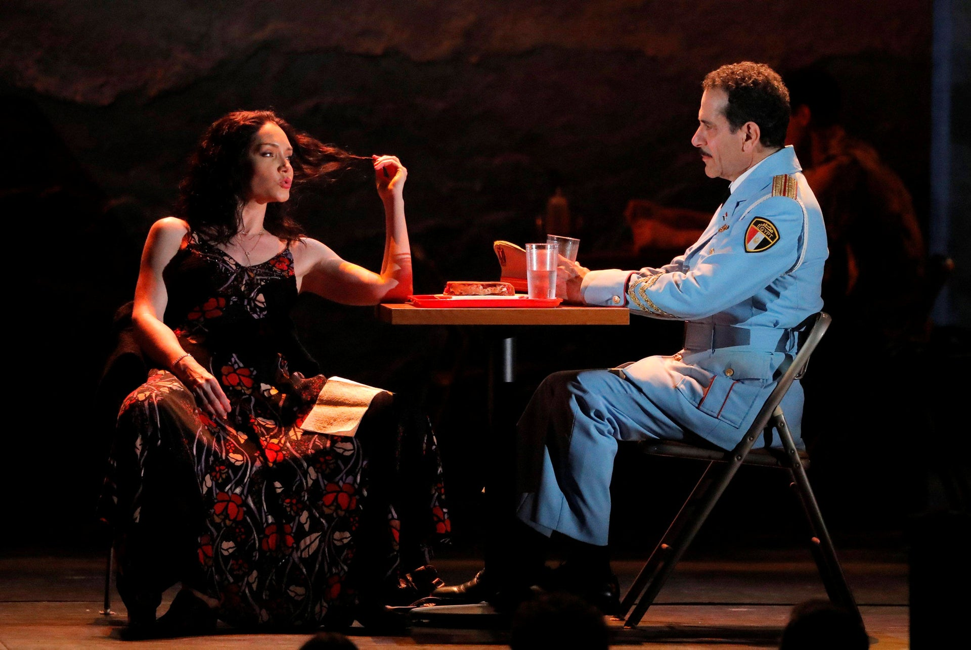 """Gabai took over the role previously portrayed by actor Tony Shalhoub, seen in a performance of """"The Band's Visit."""""""