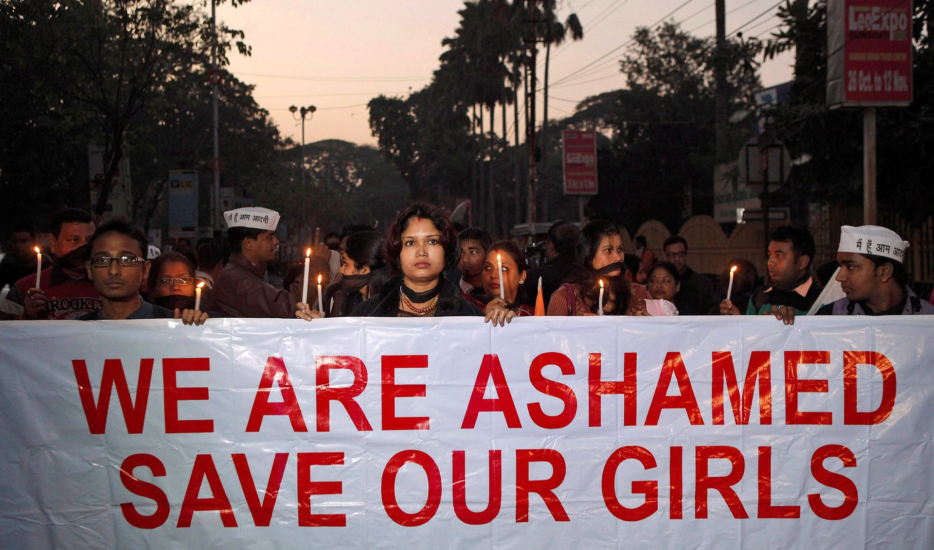 n this Saturday, Dec. 29, 2012 file photo, Indian women participate in a silent procession to mourn the death of a New Delhi gang rape victim, in Gauhati, India.