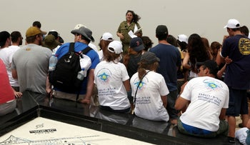 Birthright participants in the Negev, 2010.