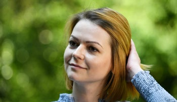 Yulia Skripal, who was poisoned in Salisbury along with her father, Russian spy Sergei Skripal, speaks to Reuters in London, Britain, May 23, 2018.