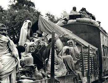 A refugee train on its way to Punjab, Pakistan. 1947
