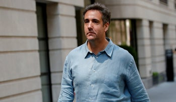 Michael Cohen exiting his hotel in New York City, U.S., July 2, 2018.