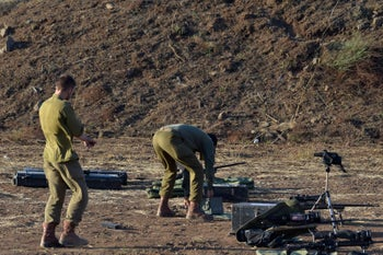 Israeli soldiers near the Syrian border, July 20, 2018.