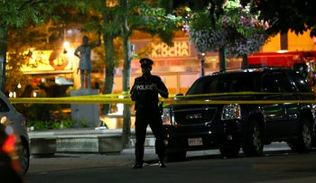 The scene of the Toronto shooting, July 23 2018