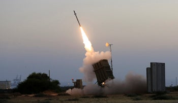 The Iron Dome anti-missile system in action in 2014.