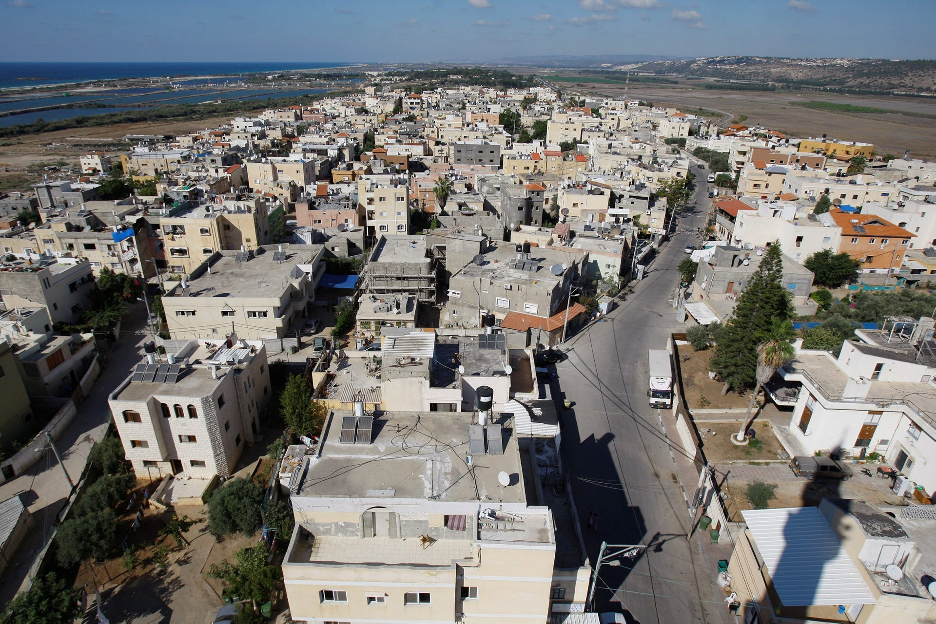 Houses in Jisr al-Zarqa. One of Israel's poorest and most troubled places.