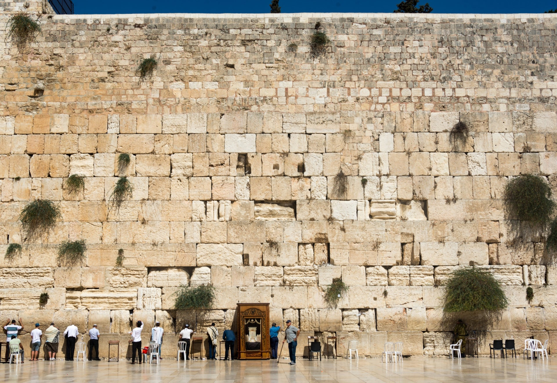 "The Western Wall, Jerusalem. ""The Western Wall is very stable,"" says archaeologist Prof. Eilat Mazar."
