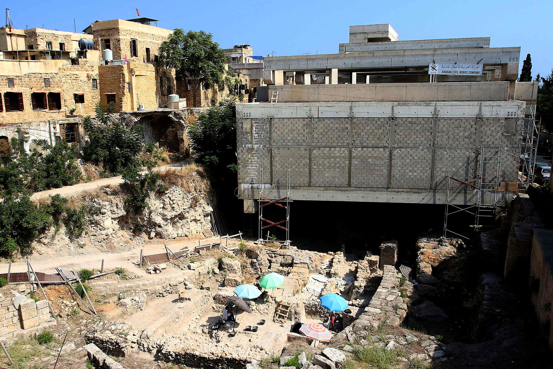 Archaeology in the Middle East: The Sidon dig is taking place in the middle of the modern town.
