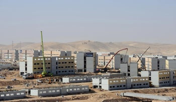 Camp Ariel Sharon, a complex of military bases under construction in southern Israel.