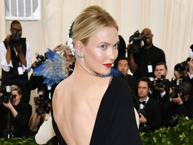 Karlie Kloss attends The Metropolitan Museum of Art's Costume Institute benefit gala celebrating the opening of the Heavenly Bodies: Fashion and the Catholic Imagination exhibition on Monday, May 7, 2018, in New York.