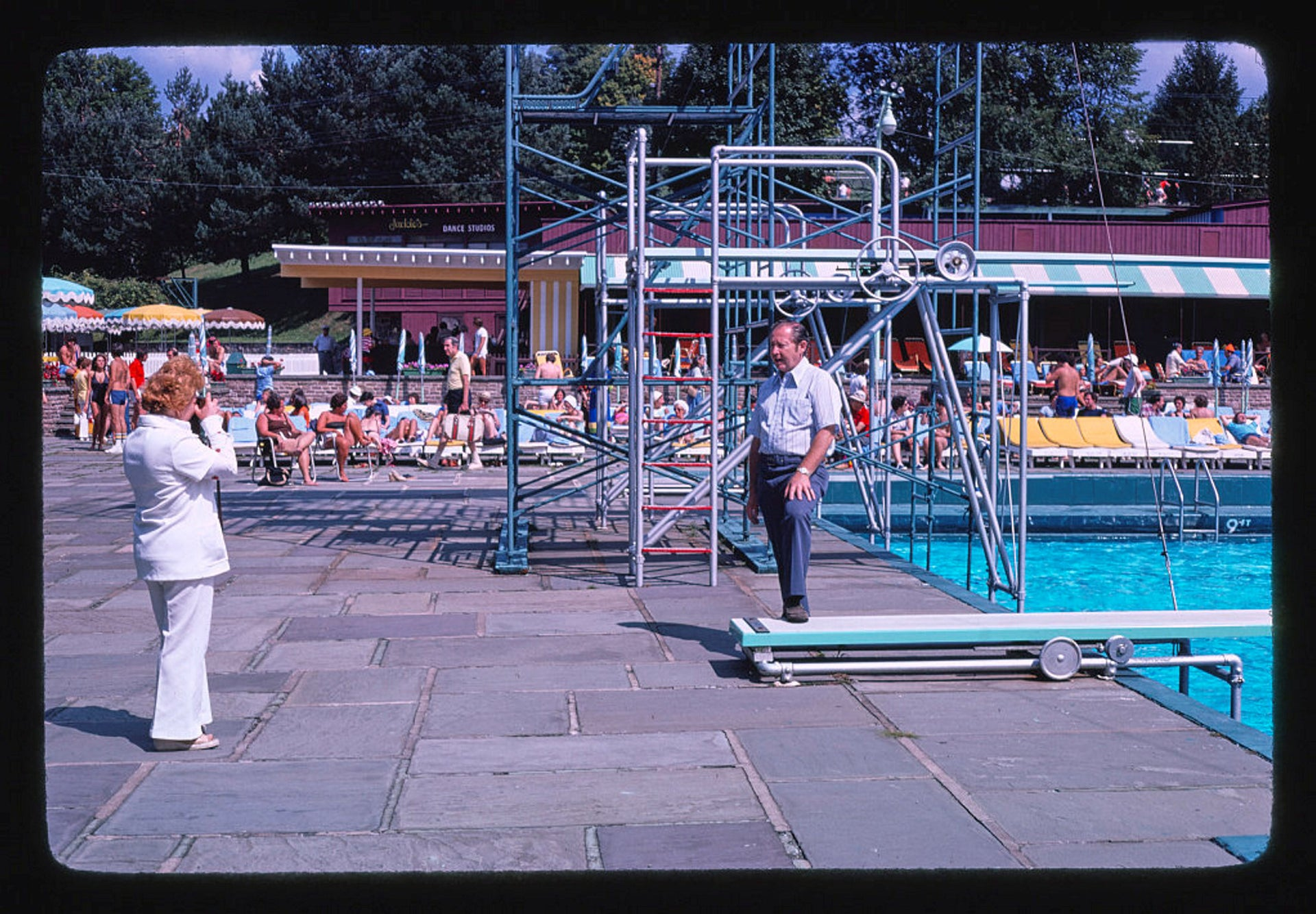 Grossinger's pool area snapshot, Liberty, New York, in 1977.