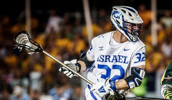 Israel playing in the Lacrosse World Championships in Netanya, July 2018.