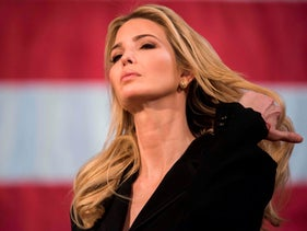 Ivanka Trump speaks at the Derry Opera House during a town hall with residents of Derry, New Hampshire, April 17, 2018.