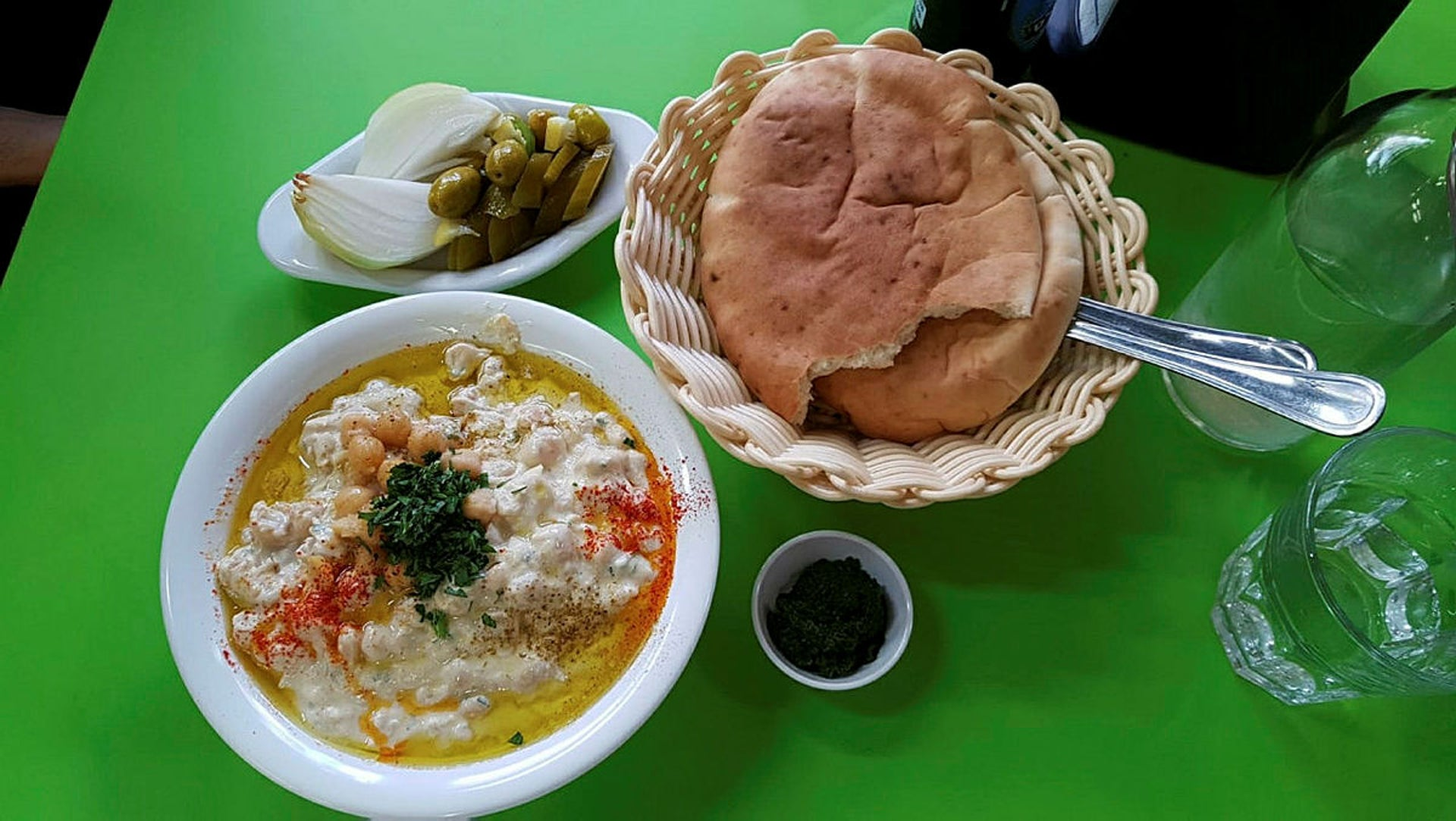 Fuls at the Hatikva Market in Tel Aviv. The owners helped build the market.