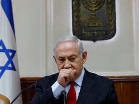 Israeli Prime Minister Benjamin Netanyahu attends the weekly cabinet meeting at the Prime Minister's office in Jerusalem, Israel July 23, 2018.