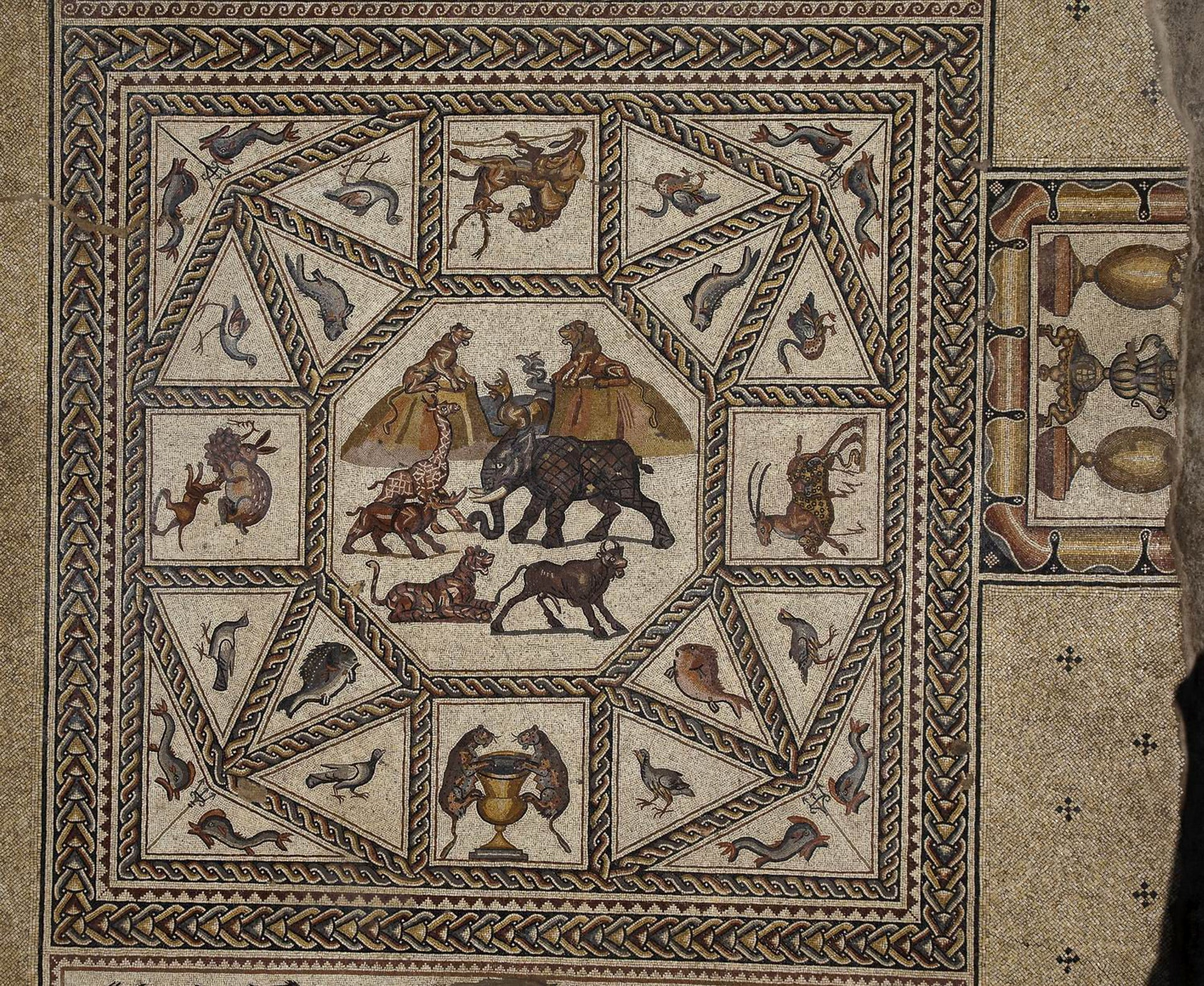 The original Roman mosaic that stunned the world in 1996, Lod