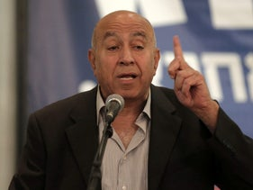 Arab Israeli lawmaker Zouheir Bahloul speaks at a press conference, February 28, 2015.
