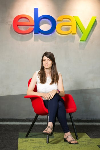 Dr. Kira Radinsky at the eBay office in Netanya, July 2016. She is the Israeli director of data science at the auction website.