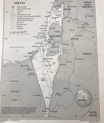 The IfNotNow map of Israel, with the West Bank and Gaza clearly demarcated.