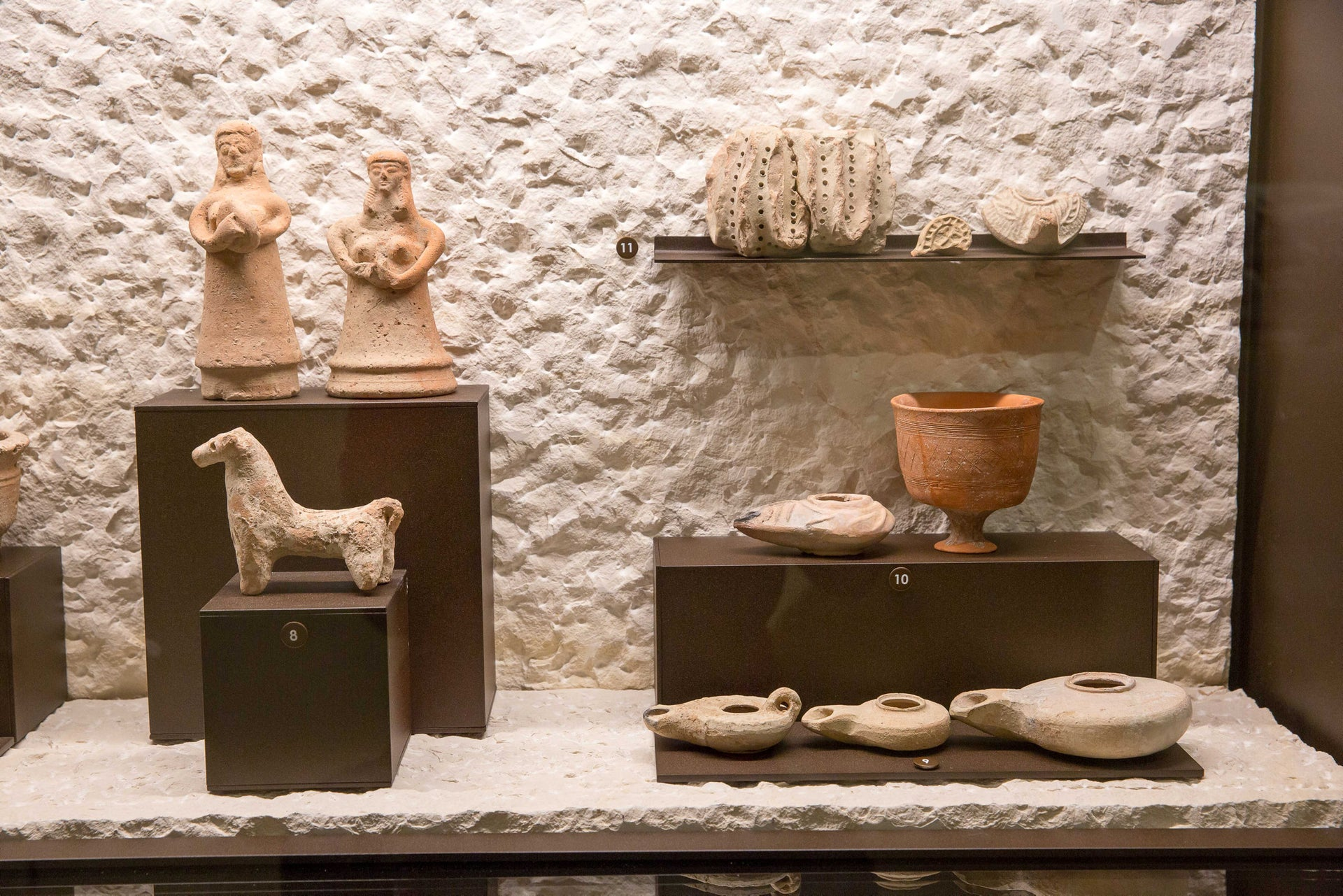 Exhibits in the Terra Sancta Museum. Some have been stored for 100 years and have never been displayed.