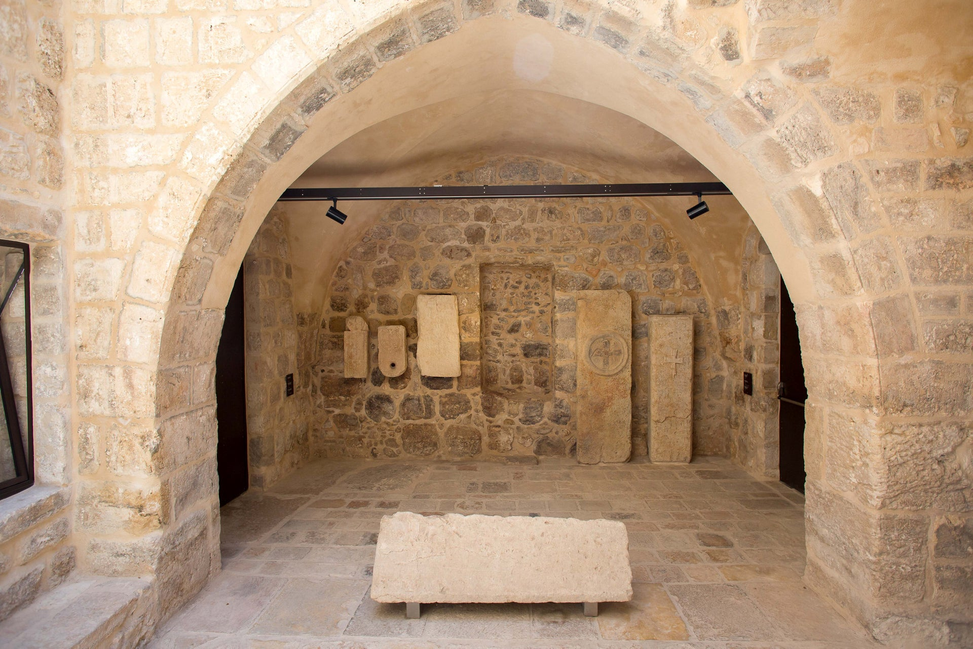 Parts of the museum date to the Byzantine era (about 1,500 years old) and the Crusader period (about 1,000 years ago).