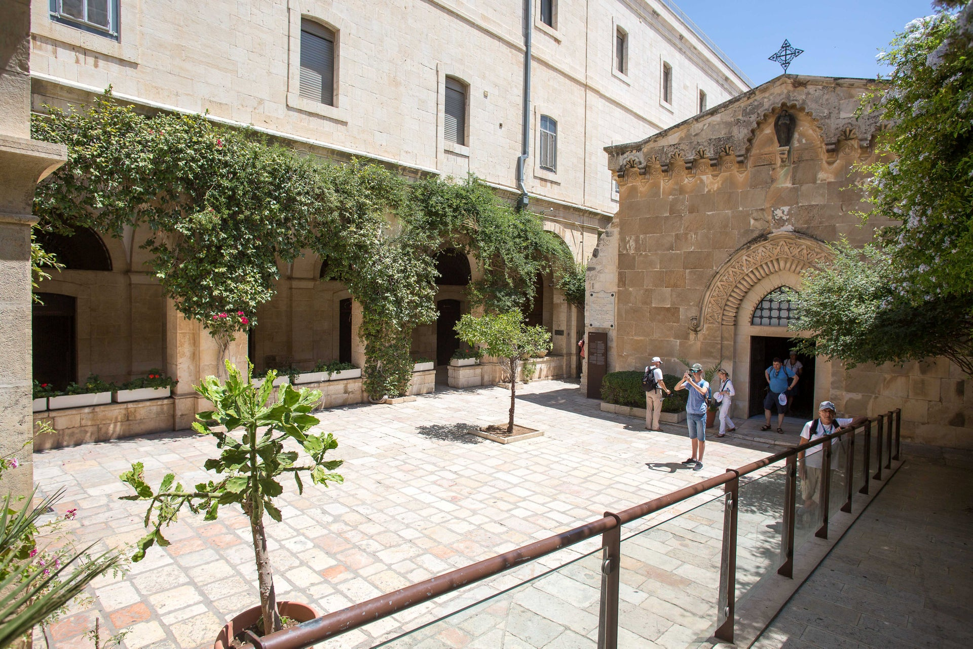 Inside the Monastery of the Flagellation. The museum building is very old: One section, which bears the name Herod's House (where three nuns currently live), is 2,000 years old.