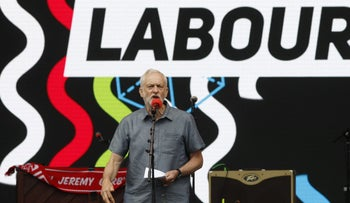 Jeremy Corbyn, leader of the U.K's opposition Labour Party, speaks during the 'Labour Live' festival in London, U.K., June 16, 2018.