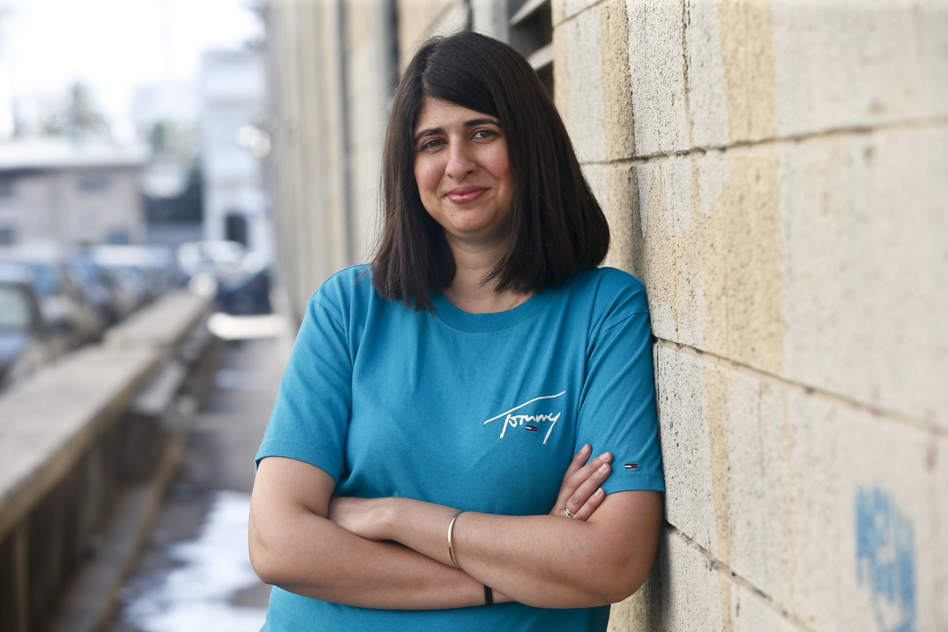 Liron Slonimsky, 33, the founder and CEO of the Israeli company Awear Solutions