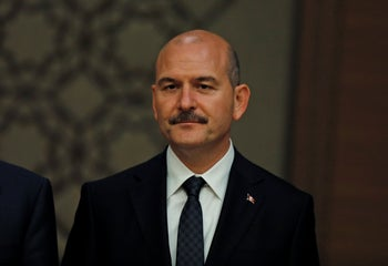 Suleyman Soylu, Turkey's Interior Minister at the Presidential Palace, in Ankara, July 9, 2018.