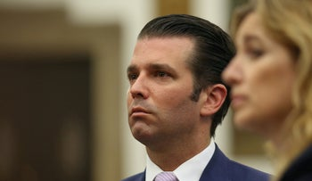 Donald Trump Jr., the son of U.S. president Donald Trump attends his divorce hearing from Vanessa Trump at the New York State Supreme Courthouse in New York City, U.S., July 26, 2018