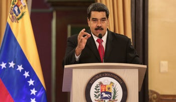 Venezuela's President Nicolas Maduro speaks during a meeting with government officials at the Miraflores Palace in Caracas, Venezuela, August 4, 2018