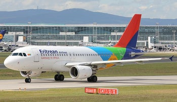 File photo: An Eritrean Airlines Airbus A319.