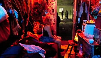FILE PHOTO: A sex worker in Tel Aviv, 2016.