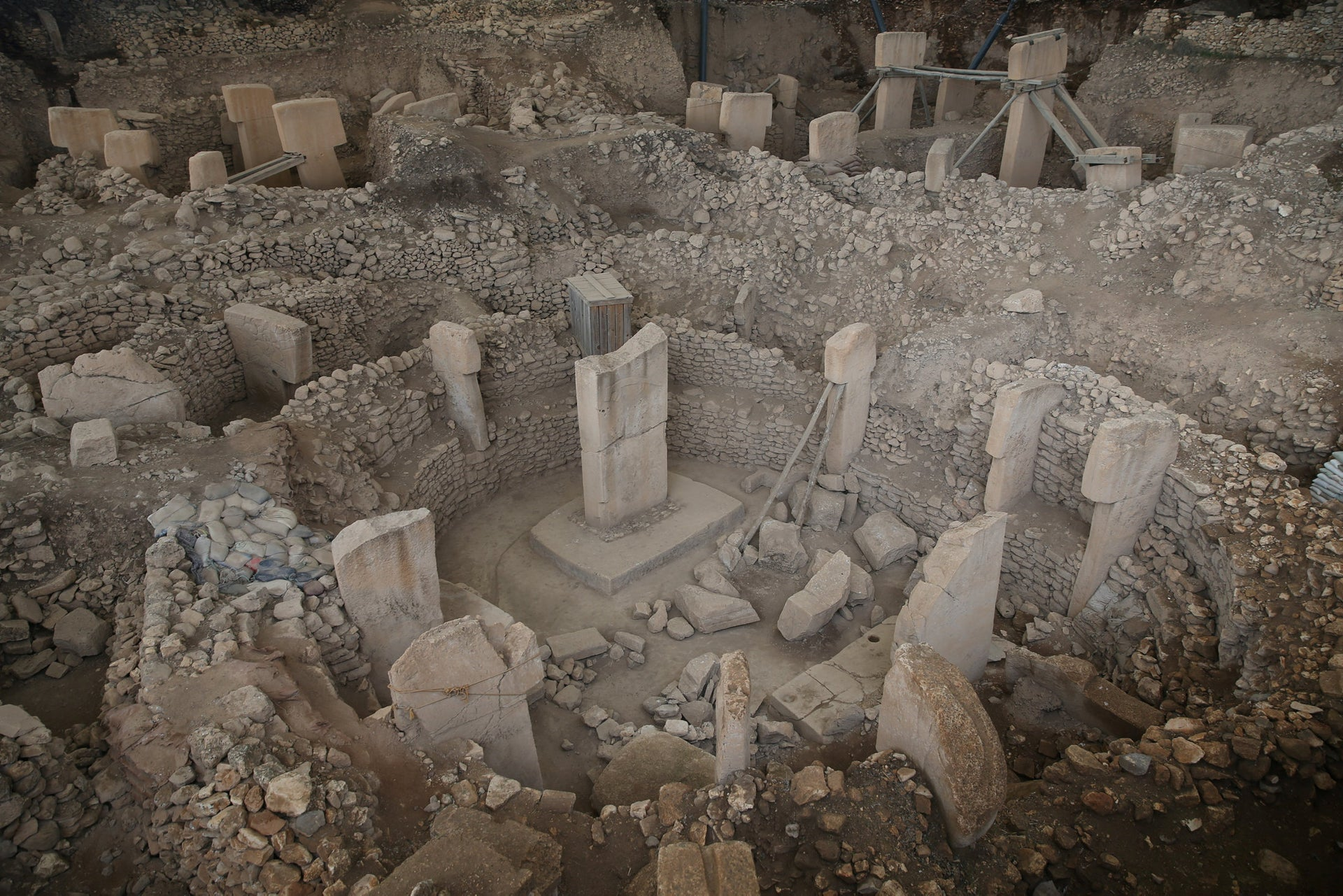 Potbelly Hill (Gobekli Tepe), which is known as the oldest Temple Center in the UNESCO's World Heritage Tentative List, in Turkey's southeastern province Sanliurfa on February 28, 2018.